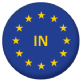 European Union (In) Flag 58mm Button Badge